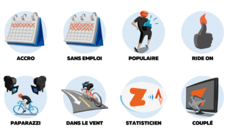 Les badges de Zwift