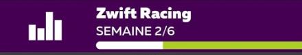Plan d'entrainement Zwift Racing: Semaine 2